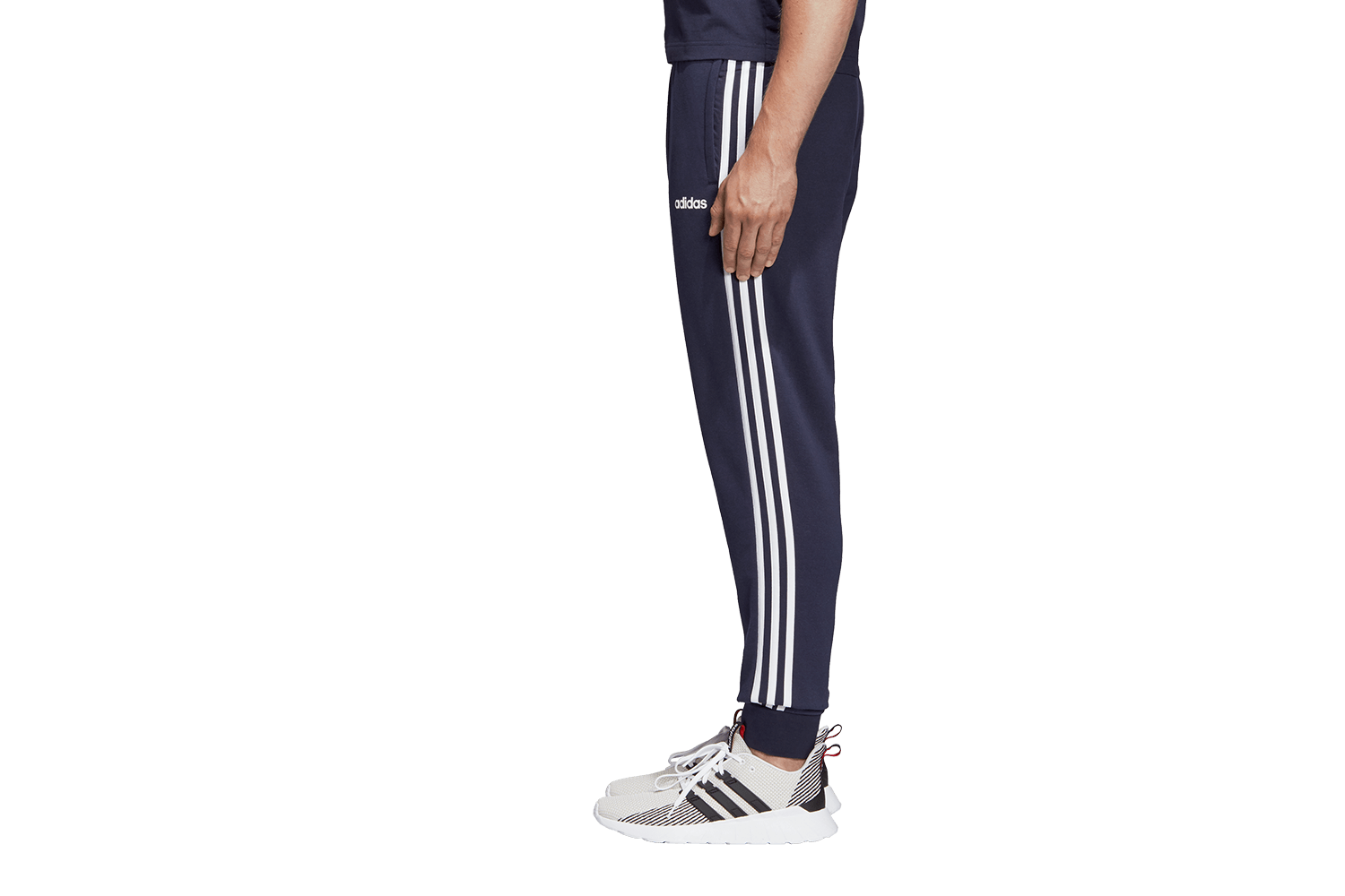88f5c2b46a6 DU0478 ADIDAS ΠΑΝΤΕΛΟΝΙ ΦΟΡΜΑΣ ΜΕ ΛΑΣΤΙΧΟ ESSENTIALS 3-STRIPES TAPERED  CUFFED | WeR